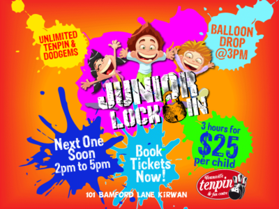 Kids, it's our Junior Lock-in!
