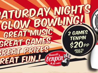 It's Glow Bowling Night at Townsville Tenpin!